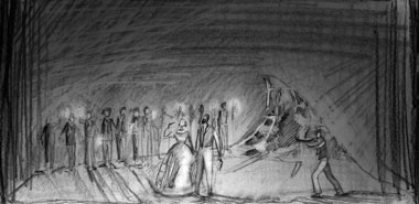 Design by Florence de Mare for English Touring Opera Il Furioso
