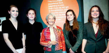 Winners of the 2015 Prize with Anya Sainsbury